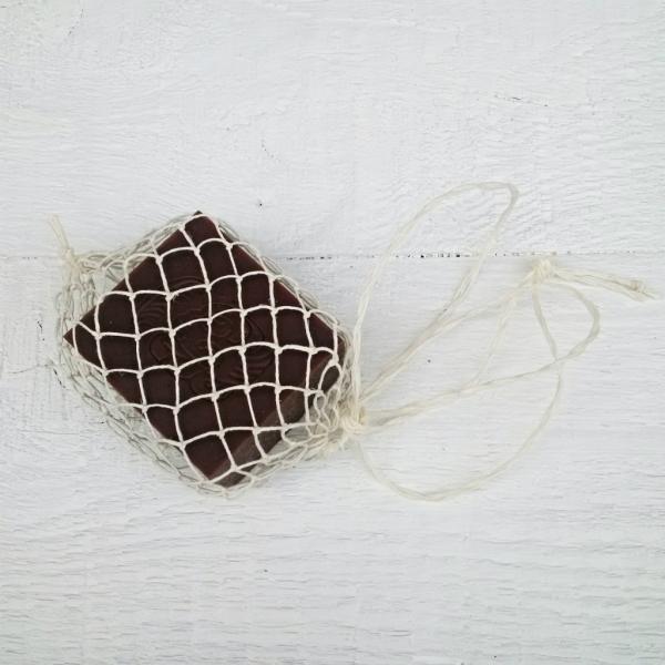 DIY návod: síťka na mýdlo z lněného provázku