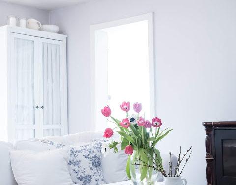 Bielo – modré vankúše od Ib Laursen