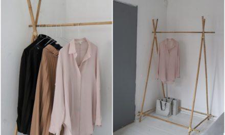DIY- bambusový stojan na oblečení