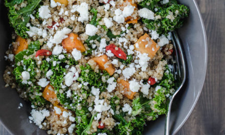 Kale, Quinoa & Sweet Potato Salad with Goat Cheese