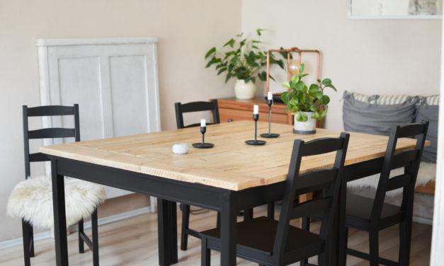 IKEA hack/ DIY Jídelní stůl svépomocí