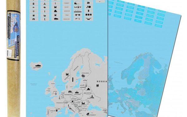 Stírací mapa Evropy – kterou si vybrat? Podrobné porovnání, speciální verze