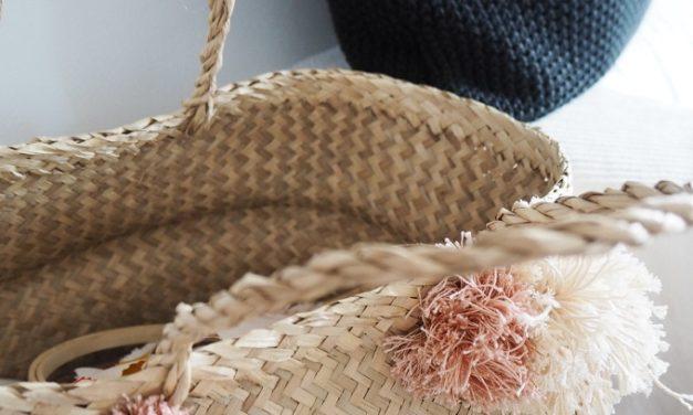 DIY: Košík s bambulkami
