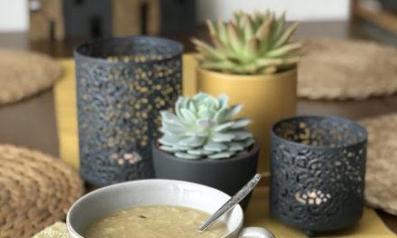 Květáková polévka s jáhlami